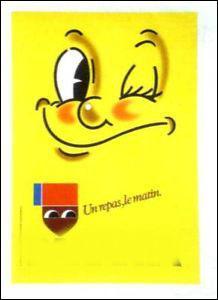 Quelle marque représente cette publicité avec le petit logo que l'on reconnaîtra ?