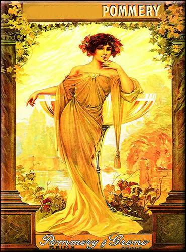 Cette superbe femme de la Belle époque représente une publicité pour :