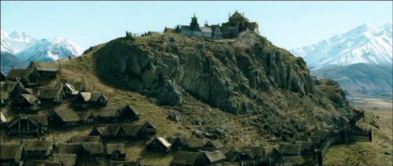 Dans  Les deux tours , qui demande au soldat du Rohan de prendre les armes d'Aragorn, Légolas, Gimli et Gandalf à leur arrivée au château d'or de Méduseld ?