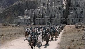 Après la bataille du champ de Pelenor, où se réunissent les vainqueurs et pourquoi ?