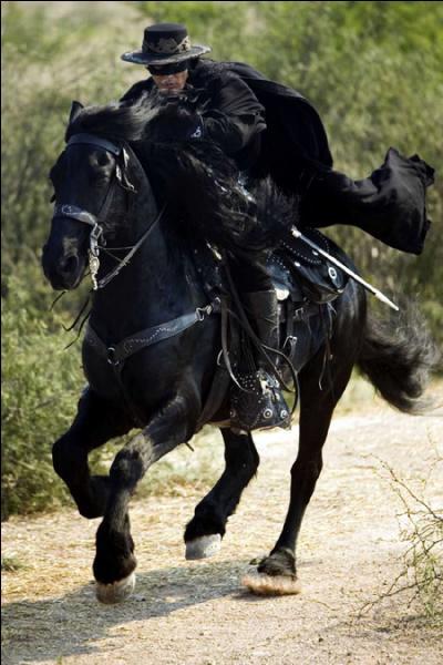 Qui est ce magnifique frison qui est le cheval de Zorro ?