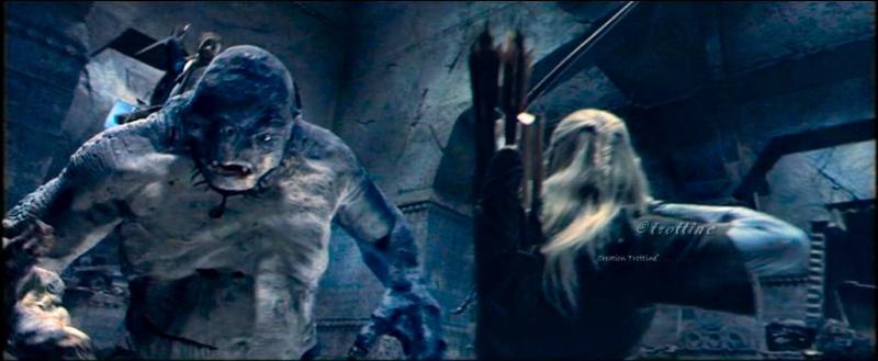 Dans la salle de Mazarbul , combien de flèches tire Légolas en tout sur le troll ?