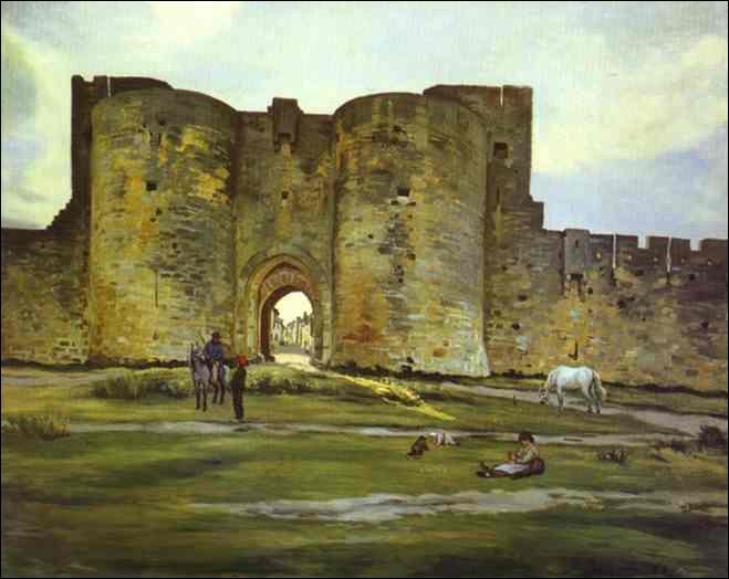 Qui a peint Porte de la Reine à Aigues Mortes ?