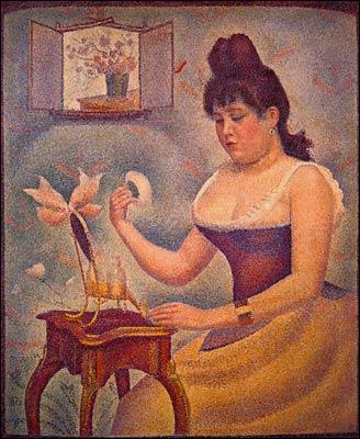 Qui a peint Femme se poudrant ?