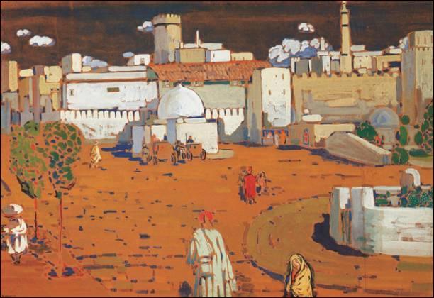 Qui a peint ville arabe ?
