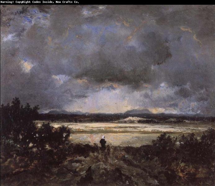 Qui a peint Coucher de soleil en Auvergne ?