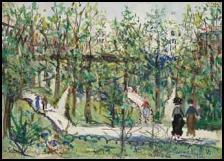 Qui a peint Jardin à Montmartre ?