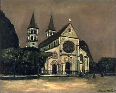 Qui a peint L'église de Melun ?