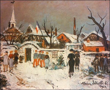 Qui a peint Paysage sous la neige à Maixe ?