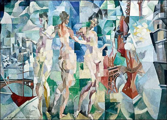 Que représente ce tableau de Robert Delaunay, une composition fort remarquée au Salon des indépendants de 1912 ?
