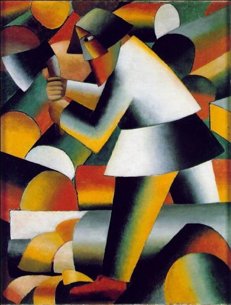 Que représente ce tableau, l'un des plus beaux de Kasimir Malévitch, qualifié par l'artiste d' « arrangement dynamique » ?