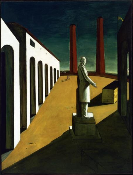 Une oeuvre surréaliste peinte en 1914 par le  Peintre de Gare , surnom amical donné par Pablo Picasso...