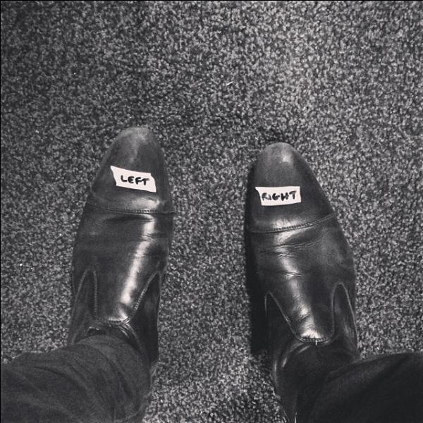 A qui appartient cette paire de chaussures ?