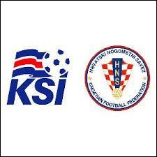 Lors du match aller Islande-Croatie, quel était le score ?