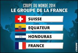 Dans quel groupe se trouve la France ?