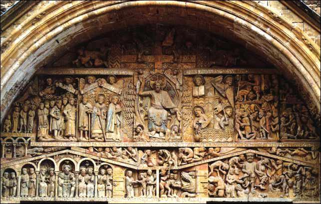 Cette scène sculptée sur le tympan de Conques représente :