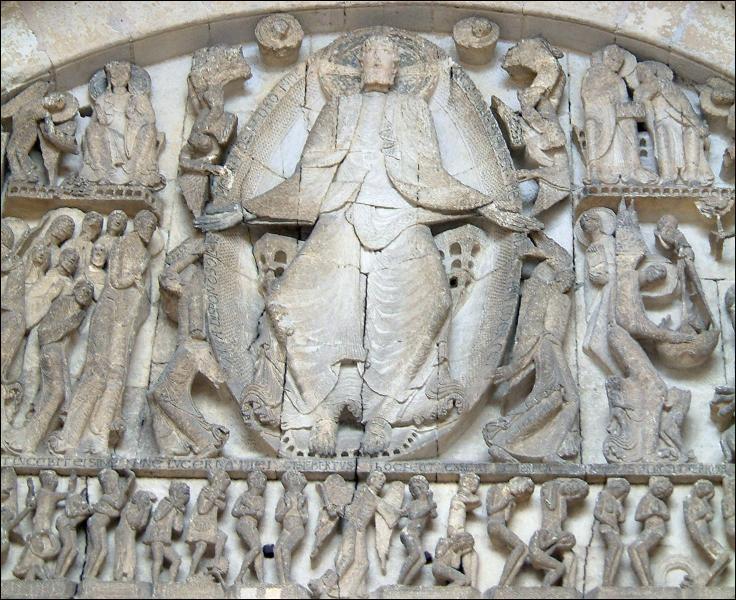 Ce tympan de cathédrale sculpté représente :