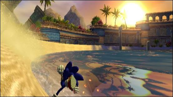 Quel est le nom du thème de Sand Oasis dans Sonic and the Secret Rings ?