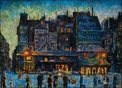 Qui a peint Paris rue animée de nuit ?