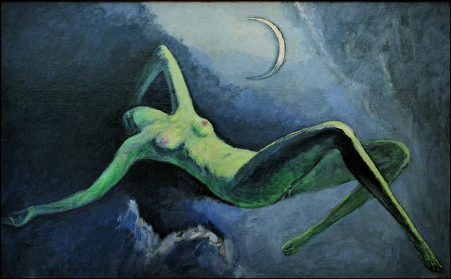 Qui a peint La nuit ou la lune découpée ?