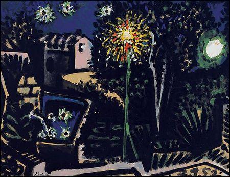 Qui a peint Paysage à Vallauris la nuit ?