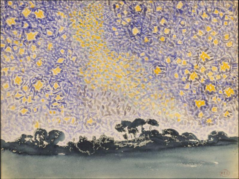 Qui a peint Paysage avec une myriade d'étoiles ?