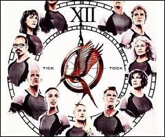 Qu'est-ce qui permet de faire comprendre à Katniss que l'arène représente une horloge ?