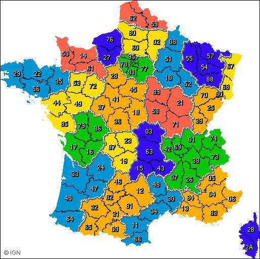 Combien y a-t-il de départements en France métropolitaine ?