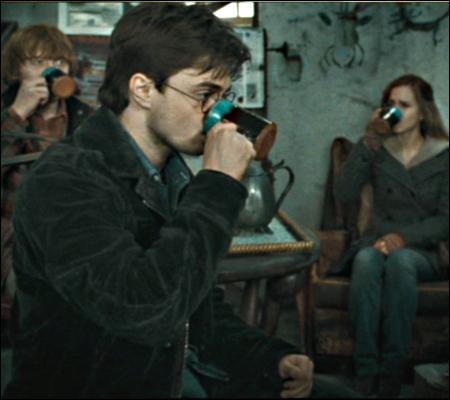 Séance  Tea Party  chez le vieux Xéno. Harry se montre poli, même si le breuvage s'avère nauséeux. En effet, il s'agit :
