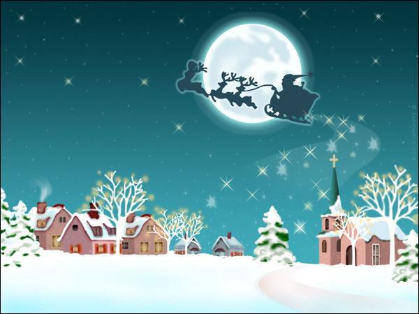 Merci au Père-Noël qui a bravé la tempête pour apporter les cadeaux, accompagné de ses rennes. Mais au fait, combien a-t-il de rennes ?