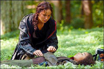 Vient un des moments les plus tristes de l'histoire : la mort de Rue. Le District 11 réagit. Dans le film, on le voit se révolter et détruire ses récoltes. Que se passe-t-il dans le livre ?