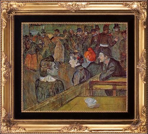 En quelle année fut peinte cette toile intitulée  Au moulin de la Galette  ?