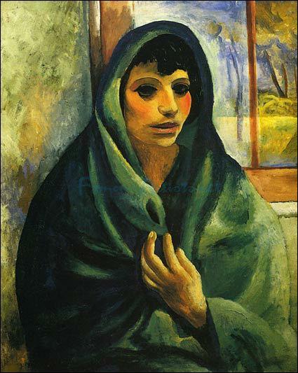 Qui a peint Femme au châle vert ?