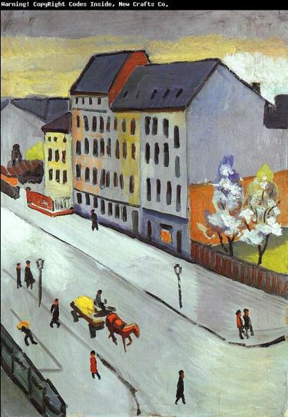 Qui a peint Notre rue ?