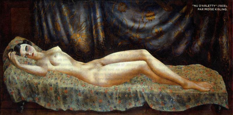 Qui a peint Nu d'Arletty ?