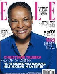 Selon le magazine Elle, Christine Taubira est la femme ...