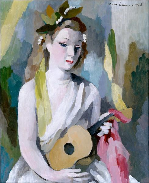Quel chanteur a popularisé le peintre  Marie Laurencin  ?