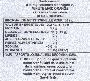 Quel est l'antioxygène présent dans la boisson dont vous devez observer l'étiquette ?