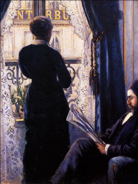 Intérieur, femme à la fenêtre.