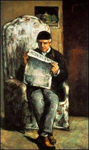 Père de l'artiste lisant son journal.