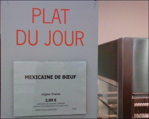 La mexicaine de boeuf existe :