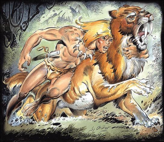 Quel est le créateur de ce magnifique tigre préhistorique ?