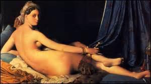 Huile sur toile peinte en 1814, de taille 91cm x 62cm, mon nom est «La Grande Odalisque» . Commande de Caroline Murat, sœur de Napoléon Ier et reine de Naples, je suis aujourd'hui exposée au Musée du Louvre. Mon créateur est né le 29 août 1780 à Montauban et est décédé le 14 janvier 1867 à Paris, peintre de style Néo-Classique, comment se nomme-t-il ?