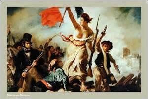 Huile sur toile de dimensions 260cm x 325cm, réalisée en 1830, je me nomme «La Liberté guidant le peuple» et est exposée au Louvre. Représentant une scène de la révolution des  Trois Glorieuse (27 au 29 juillet 1830)   , mon auteur de mouvement Romantique est né le 26 avril 1798 à Charenton-Saint-Maurice (Val-de-Marne) et décède des suites d'une tuberculose le 13 août 1863 à Paris, mais qui est-il ?