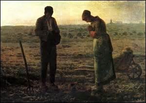 Mon nom est «L'Angélus» , peinte en 1857, je suis une peinture à l'huile de 55, 5cm x 66cm se situant au Musée d'Orsay. Tableau célèbre, mon créateur est un peintre Réaliste de l'École de Barbizon. Né le 4 octobre 1814 à Gruchy, hameau de Gréville (Manche) et décédé le 20 janvier 1875 à Barbizon (Seine-et_Marne) , il est aussi connu en tant que pastelliste, graveur et dessinateur, mais qui est-il