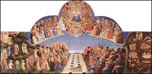 Mon nom est  Le jugement dernier  , peint entre 1431 et 1435, mesurant 105cm x 210cm, je suis actuellement exposé dans la salle de  l'Hospice des pèlerins  du musée national du couvent San Marco à Florence. Mais qui est mon créateur, né vers 1400 et décédé à Rome le 18 février 1455 ?