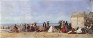 Je me nomme Eugène Boudin, peintre impressionniste, je nais à Honfleur (Calvados) le 12 juillet 1824 et décède à Deauville le 8 août 1898. Considéré comme un des pères de l'impressionnisme, je peins cette couleur sur bois entre 1870 et 1874, mesurant 18, 2cm x 46, 2cm, elle se trouve en ce moment à la National Gallery de Londres, mais comment s'intitule cette œuvre ?