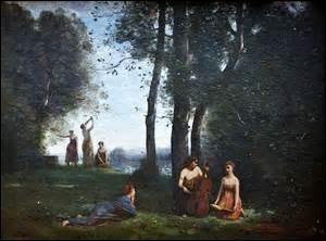 Huile sur toile datant de 1857, je m'appelle «Le Concert champêtre» , exposée au Musée Condé de Chantilly, de dimensions 98cm x 130cm, je suis l'œuvre d'un peintre qui fait partie des fondateurs de l'École de Barbizon. Né le 16 juillet 1796 à Paris et décédé dans cette même ville d'un cancer de l'estomac dans le 10e arrondissement, au 56 rue du Faubourg-Poissonnière, le 22 février 1875, son nom :