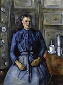 Je m'intitule «La Femme à la cafetière» , peinture à l'huile sur toile, mes dimensions sont 130, 5cm x 96, 5cm, réalisée entre 1890 et 1895, je suis exposée au Musée d'Orsay. Mon créateur est un peintre impressionniste, né à Aix-en-Provence le 19 janvier 1839 et décédé d'une pneumonie dans sa ville natale le 22 octobre 1906, mais comment se nomme-t-il ?