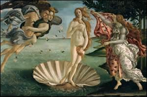 Peinte vers 1485 par Sandro Botticelli (1er mars 1444 à Florence et décédé dans cette même ville entre le 1er et le 31 mai 1510) , je suis conservé aux Offices de Florence. Mon personnage central représente le portrait de Simonetta Vespucci (Née à Férraze le 30 mars 1453 et décédée à Florence de la tuberculose, le 26 avril 1476) . De dimensions 184, 5 cm x 285, 5 cm, je me nomme :